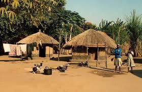 poor african village