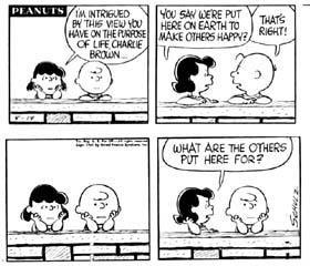 altruism Peanuts cartoon