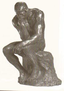 honst to God The thinker (by Auguste Rodin)