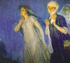 door of the tomb--The Three Marys by Henry Osawa Tanner, 1910